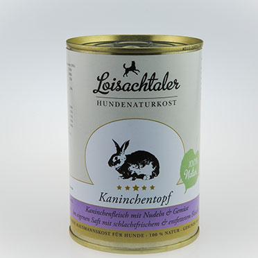 Loisachtaler-Hundenaturkost-Kaninchentopf