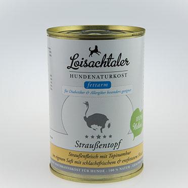 Loisachtaler-Hundenaturkost-Straussentopf
